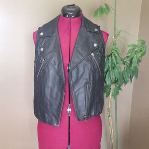 American Eagle Faux Leather Vest